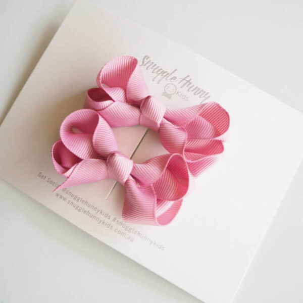 SHK Clip Bow Pair Dusty Pink 1