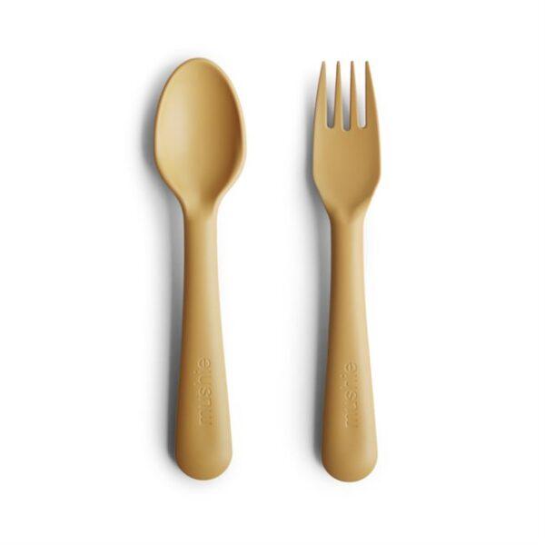 Fork Spoon Mustard