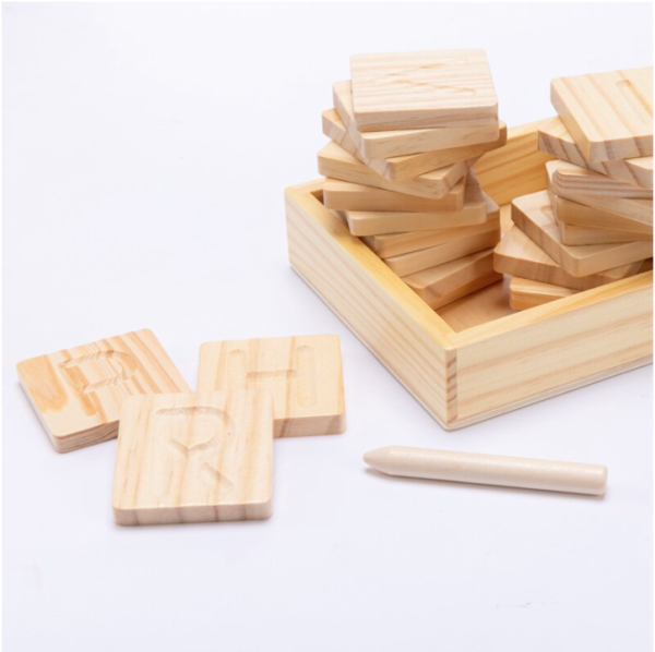 Wooden Letters Tracing Set 1