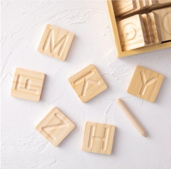Wooden Letters Tracing Set 2
