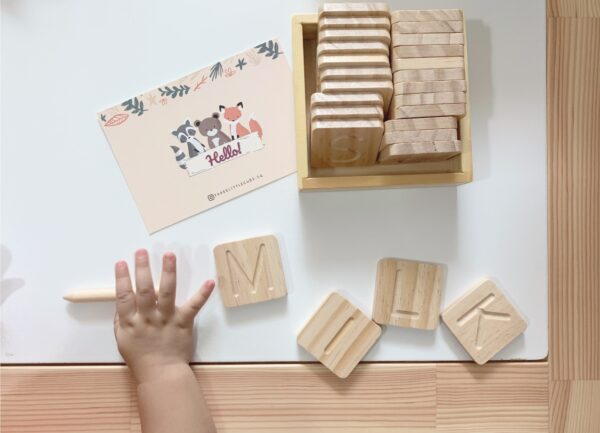 Wooden Letters Tracing Set scaled