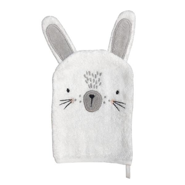 White Bunny Wash Mitt